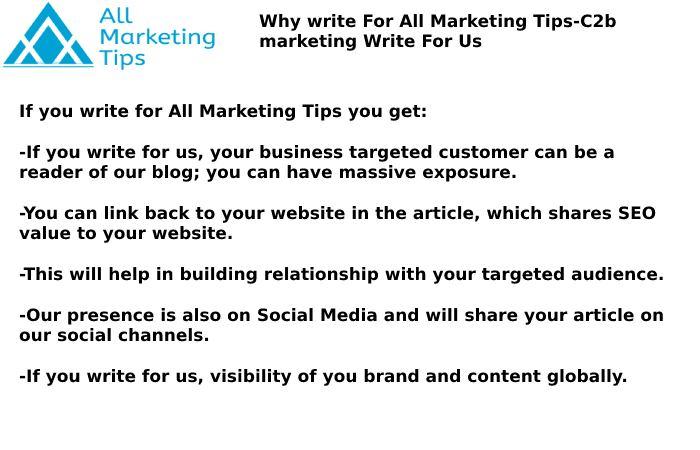 C2b Marketing  Write For Us