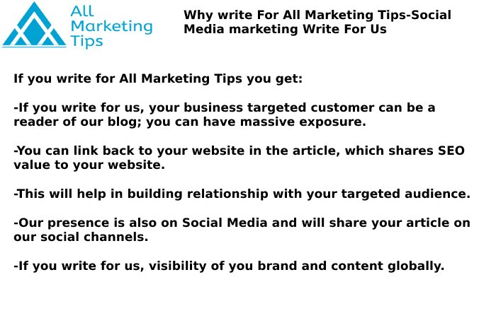 Social Media Marketing Write For Us