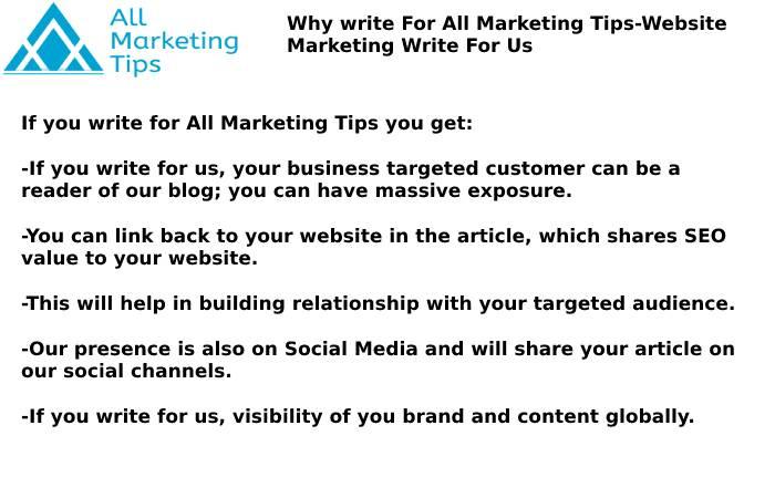 Website Marketing Write For Us