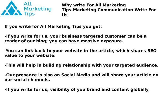 Marketing Communication Write For Us