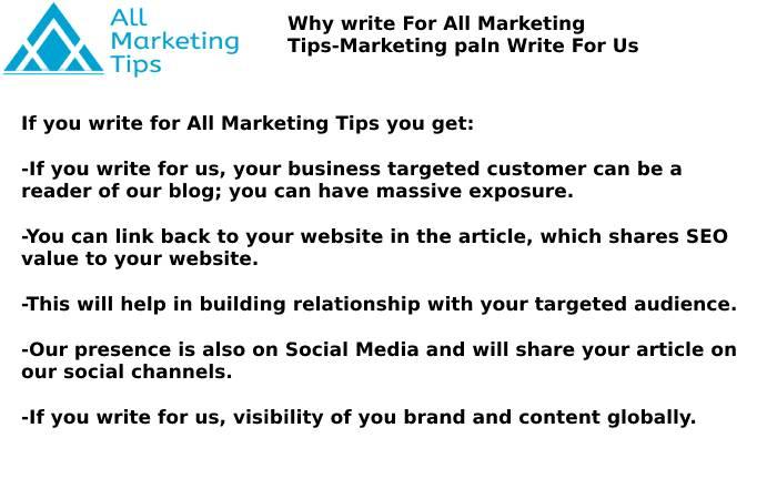 Marketing Plan Write For Us