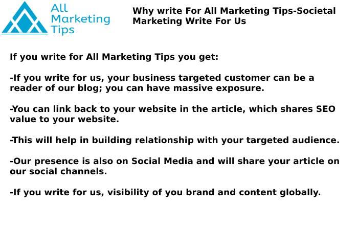 Societal Marketing  Write For Us