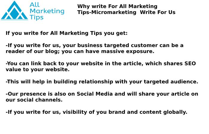 Micromarketing Write For Us