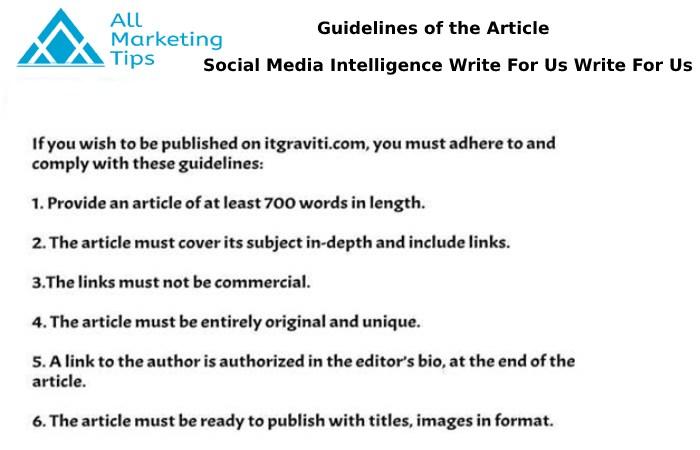 social media intelligence Write For Us AMT