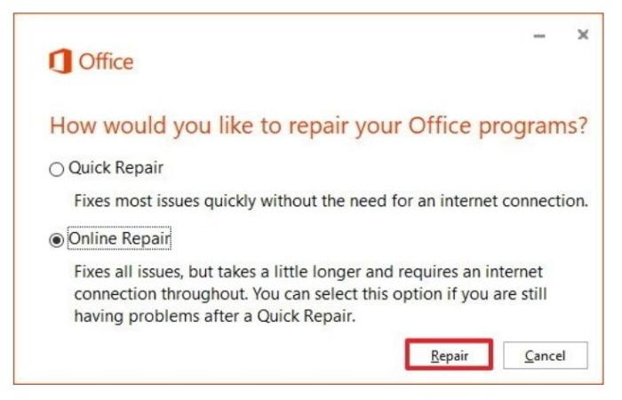 Use Microsoft Auto-Repair Tool pii_email_1606b61a08e6a2cf4db9